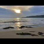 Lever du jour sur le sable